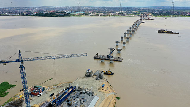 Axis 100 to 240 : Bridge Foundation up to Bridge Substructure works completed