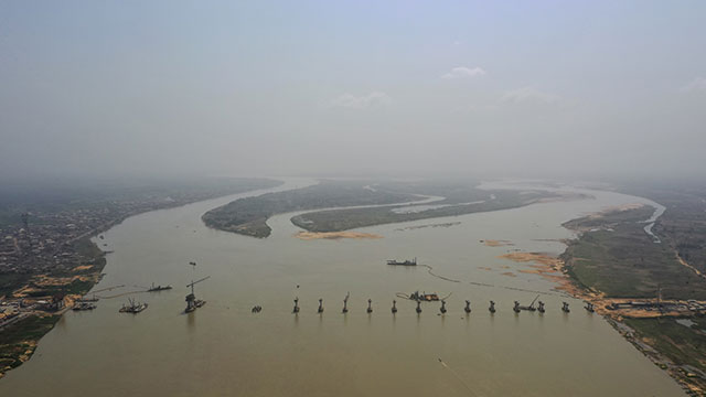 Niger Bridge - Aerial view from northern side