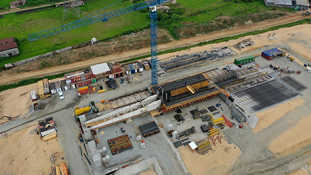 Niger Bridge Eastern Approach – Preparation for casting of segment 1 north