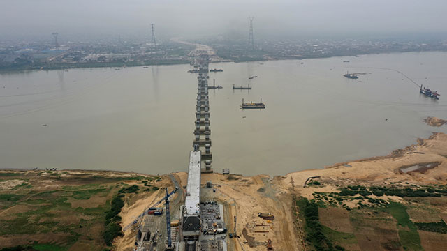 Niger Bridge – View from Asaba side towards Onitsha