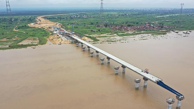 Niger Bridge Western Approach - Incremental launching of segment 16 (North) completed