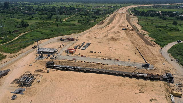 Toll Station Asaba Site – Structural works and waterproofing for tunnel on-going